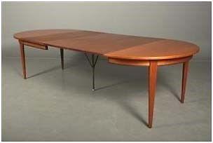 Spisebord, teaktræ, Omann Junior