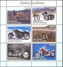 Ivory Coast 2004 Harley Davidson/Motor Cycles/Motorbikes  6v sht (cs) (n11068)
