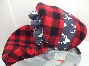 Image Is Loading FLEECE BUFFALO CHECKS PLAID DEER INFANT CAR SEAT