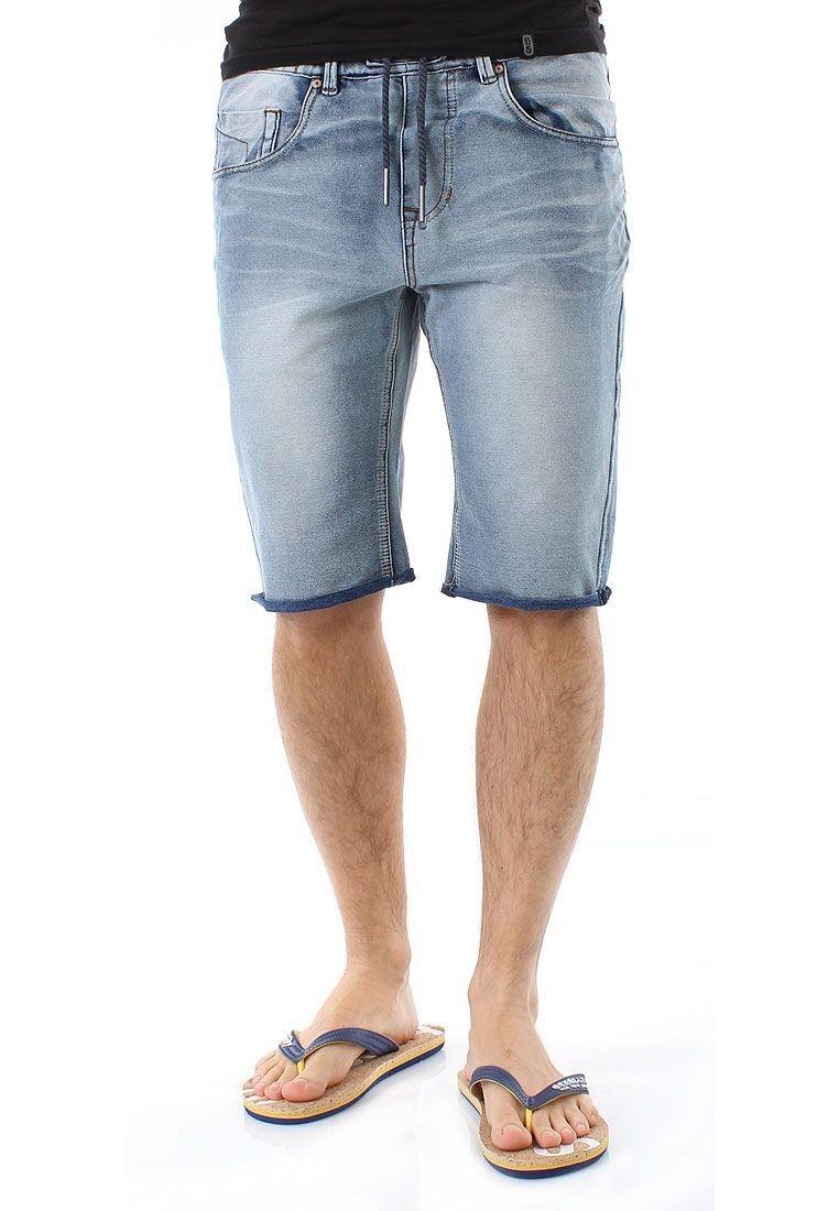 SHINE Shorts Uomo Denim Shorts 2-55033 BLU MEDIO
