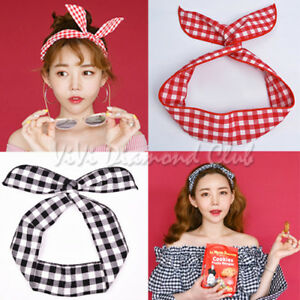 Fashion Korean Style Rabbit Bunny Ears Ribbon Scarf Hair Tie Wrap ... c15cfff5b2e