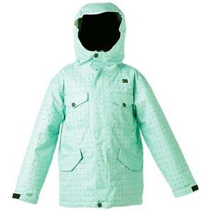 Youth-Girl-039-s-DC-Shoes-Arcadia-K-Ski-Snowboard-Snow-Jacket-Mint-Green-Size-XL