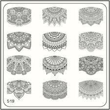 MoYou Square Image Plate 519 Ethnic Style, French Manicure Stamping Template