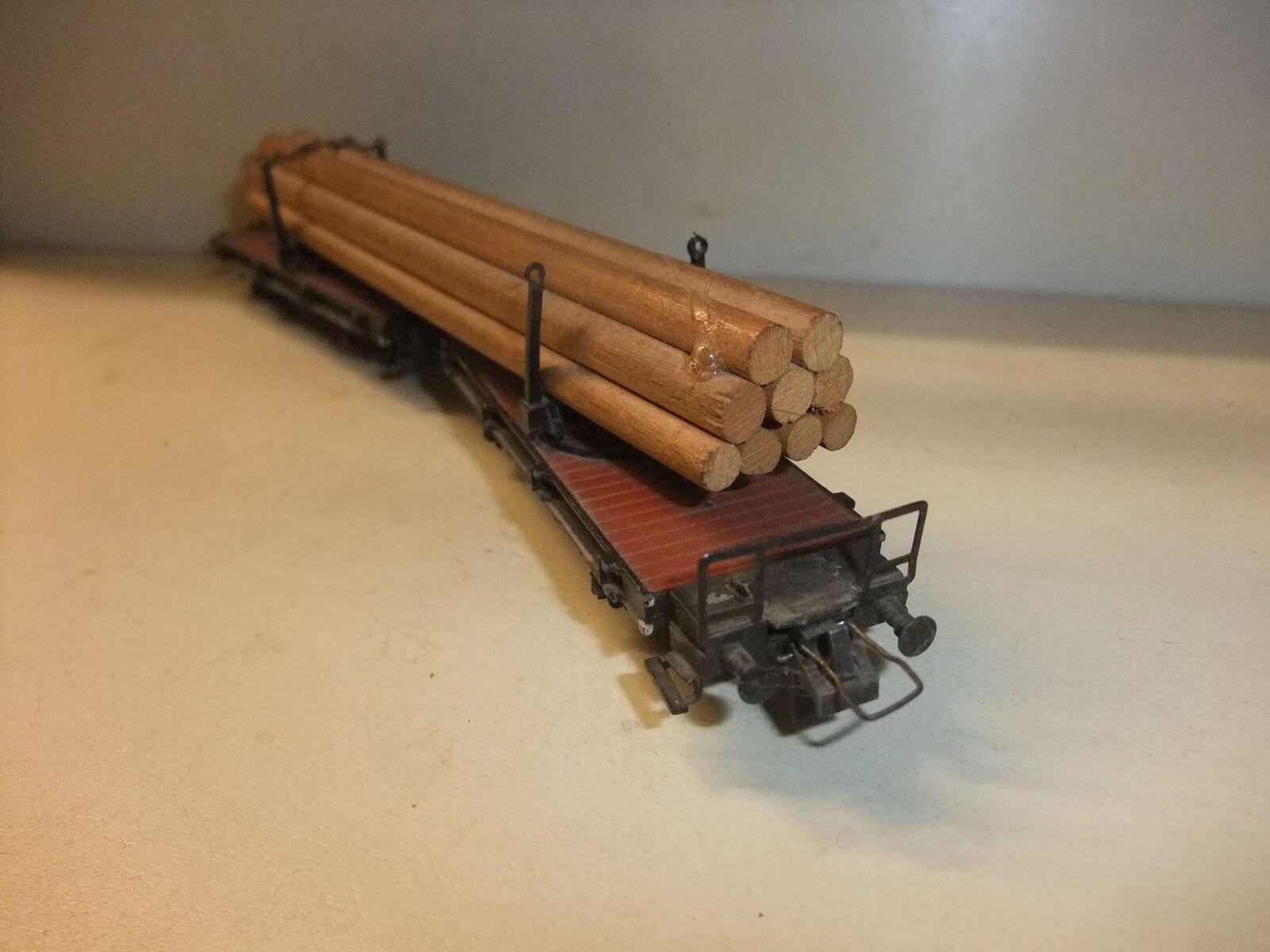 M k   3 3 3   15 modelleisenbahn h0 trix - modell holztransportwagen blechmodell (alt 2e16a8