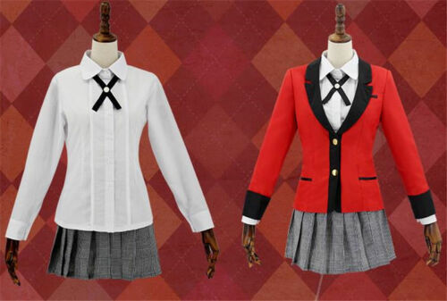 Kakegurui Yumeko Jabami School Uniform Full Set Cosplay Costume Girl Dress Anime