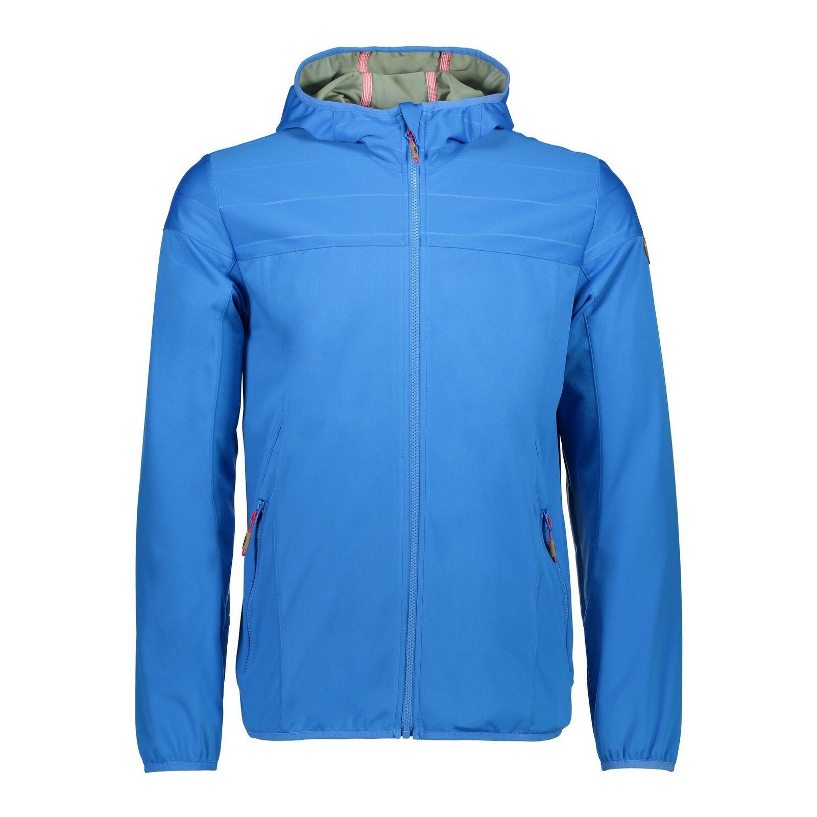 CMP Softshelljacke Jacke Man Fix Hood Jacket blau winddicht wasserdicht