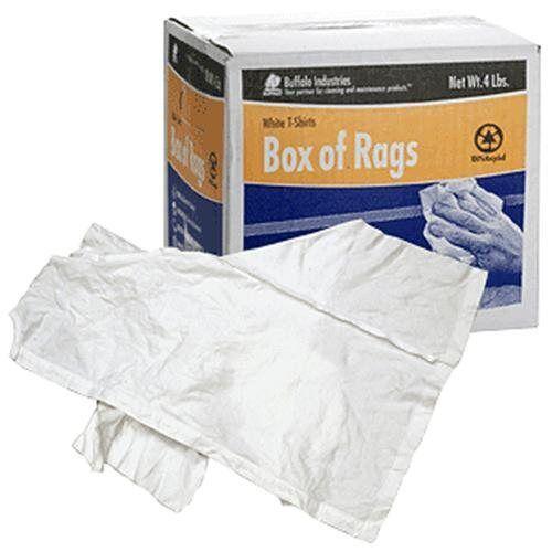 CRL White T-Shirts Box of Rags