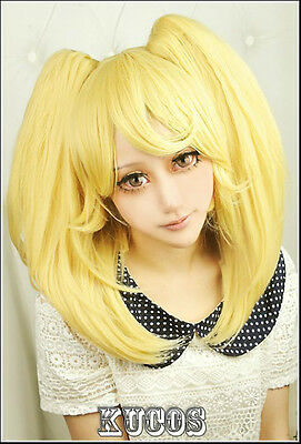 Danganronpa Dangan-Ronpa Saionji Hiyoriko New Hair Fashion Cosplay Wig+Ponytails