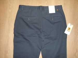 Farah-Cotone-Chino-Pantaloni-cranetwill-Jeans-W32-L31-LUCE-BLU-NAVY-MEN-039-S-NEW