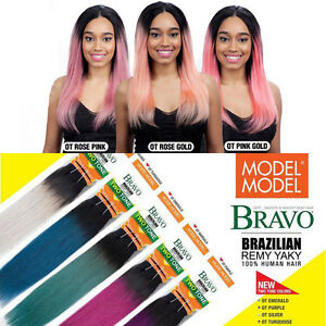 Image Is Loading Bravo Brazilian Remy Yaky 100 Human Hair Weaving