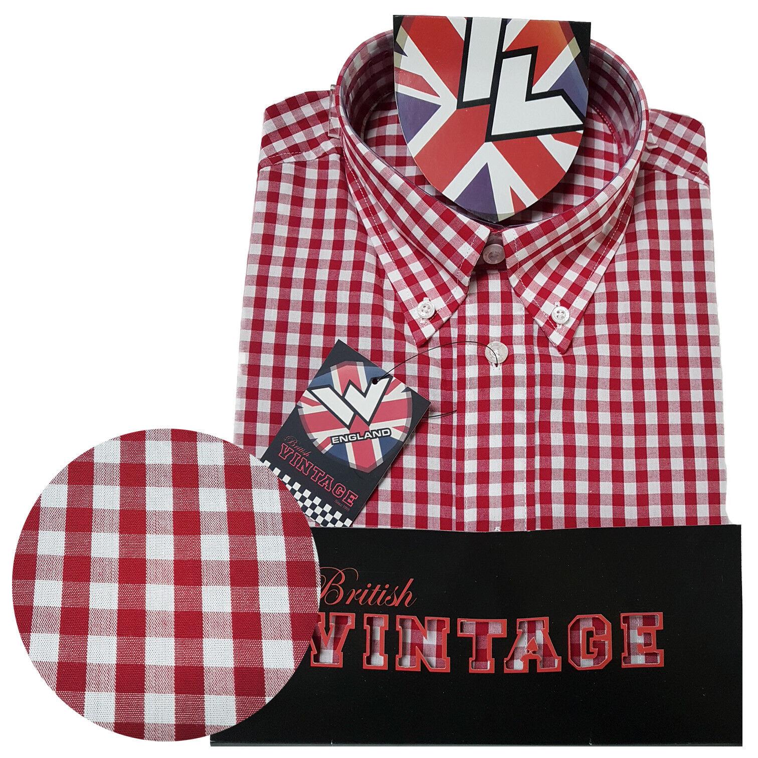 Warrior UK England Button Down Shirt GOVER Hemd Slim-Fit Skinhead Mod     Moderner Modus    Vogue    Up-to-date Styling