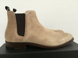 NEW Aldo Mens Taupe Suede Brown Chelsea