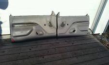 FORD TRUCK DOOR PANELS (BOTH) NON-POWER OEM GRAY 1992-1996