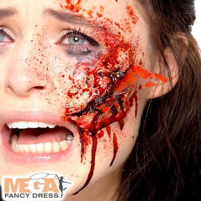 Obbiettivo Vetro In Lattice Ferita Protesico Halloween Fancy Dress Falso Sanguinoso Costume Accessorio-mostra Il Titolo Originale