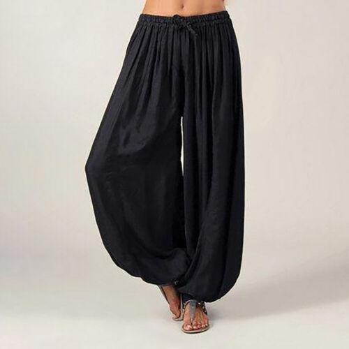 Hippie Aladdin Yoga Ali Pants Gypsy Genie Baba Harem Trousers Baggy Unisex CA