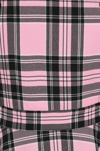 Hell Bunny Islay Tartan Check Punk Rockabilly Vintage Pinafore Dress XS-4XL