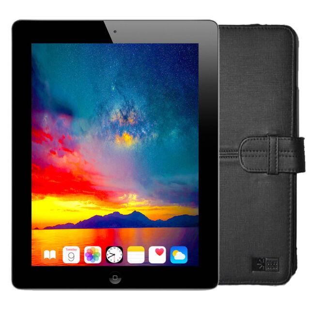 "Apple iPad 2 9.7"" Tablet 16GB Wi-Fi - Black/Silver + Logic Folio (MC769LL/A)"