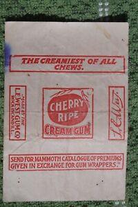 Cherry Ripe Cream Gum Wrapper Rock Island IL Black Americana Premium Offered
