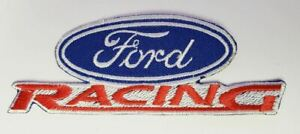 """Patch - Ford Racing Die-Cut 4"""" * Iron or Sew On * Ships Worldwide & FREE to USA!"""