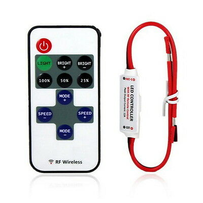 12V RF Wireless Remote Switch Controller Dimmer for Mini LED Strip Light New SA