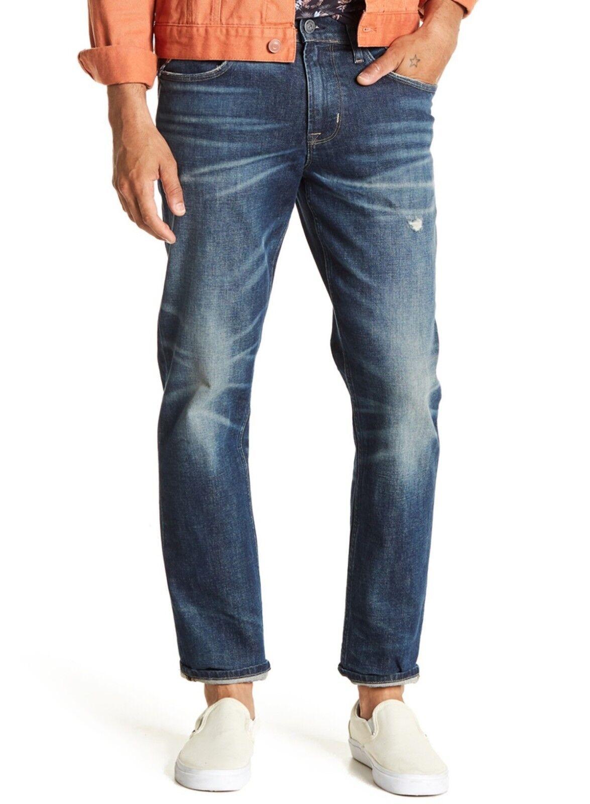 Hudson Jeans Men's Blake Slim Straight Leg Jeans Method Distressed OPER Denim