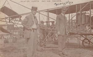 1693-RPPC-Aviator-Glenn-Curtis-Early-Biplane-1911-21