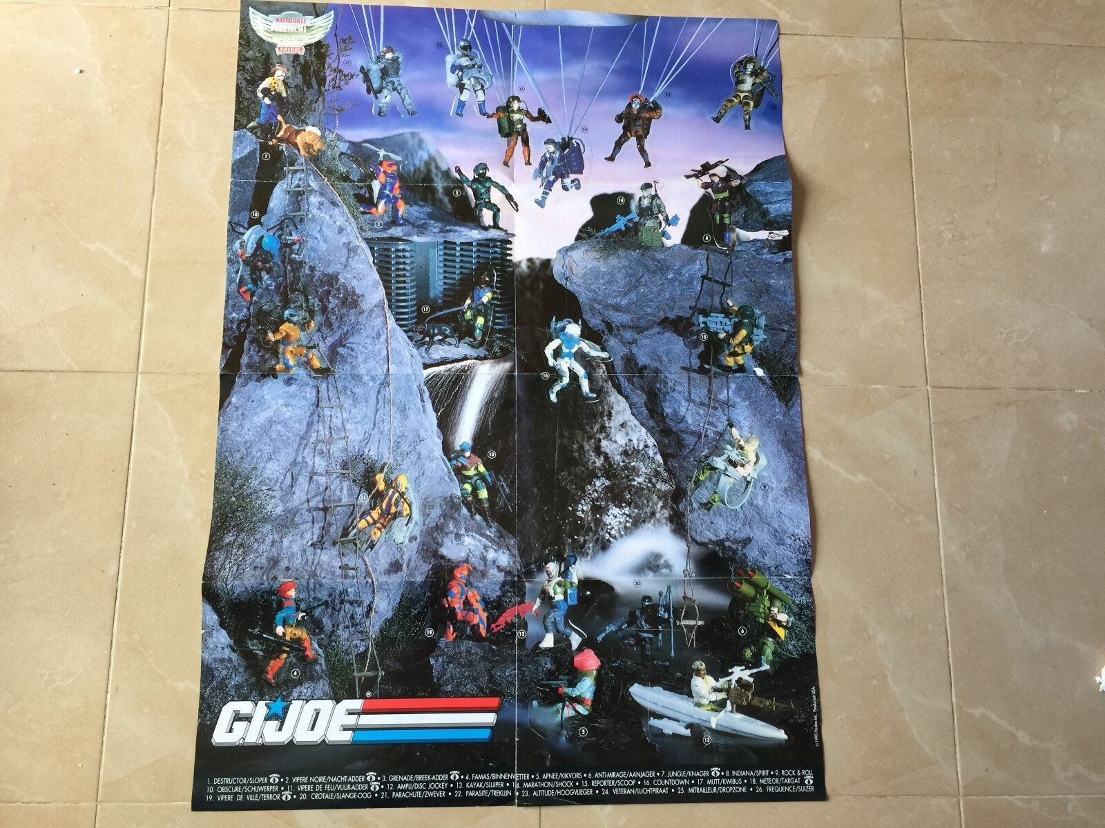 GIJOE 1990 hasbro POSTER POSTER POSTER catalogue 32 inch super large wall stickers cd0e98
