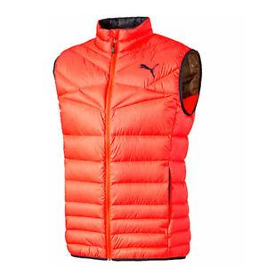 Puma Active 600 PackLITE Fluro Orange Zip Up Mens Warm Vest Gilet ... 16bc7bdd127