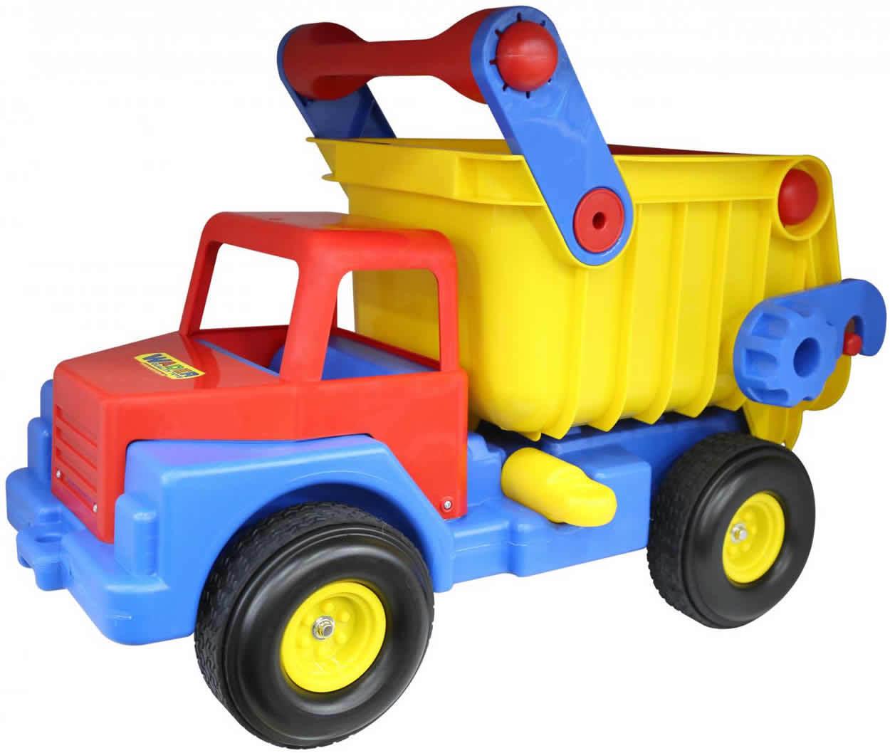 WADER Truck No. 1 Lastwagen LKW Kipper mit Gummireifen