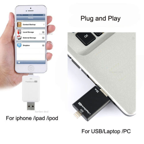 256G I Flash Drive USB2.0 128G OTG Memory Stick for iPhone 5 5S 6 6plus Android