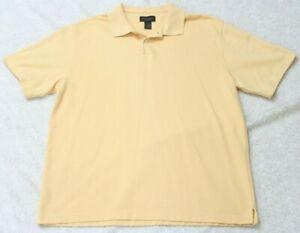 Van-Heusen-Yellow-Polo-Shirt-Short-Sleeve-Large-Men-039-s-Man-039-s-Solid-Cotton-Poly