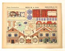 Pellerin Imagerie D'Epinal-# 1150 Moulin A Eau Petite vintage paper model