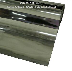 2 ply silver metallic mirror window tint 5 60 x 100 feet for Miroir 60 x 100