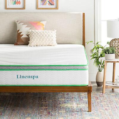Linenspa 10 Inch Innerspring and Memory Foam Mattress ...