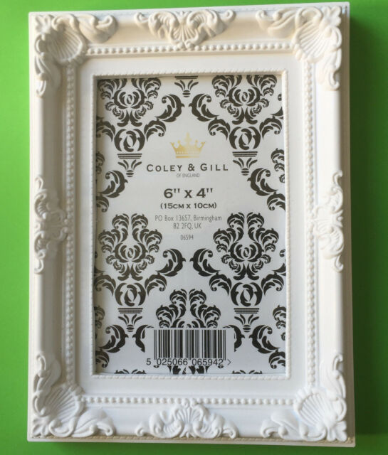 "White French Vintage Ornate Shabby Chic Picture Photo Frames 6"" X 4""inch 10x15cm"