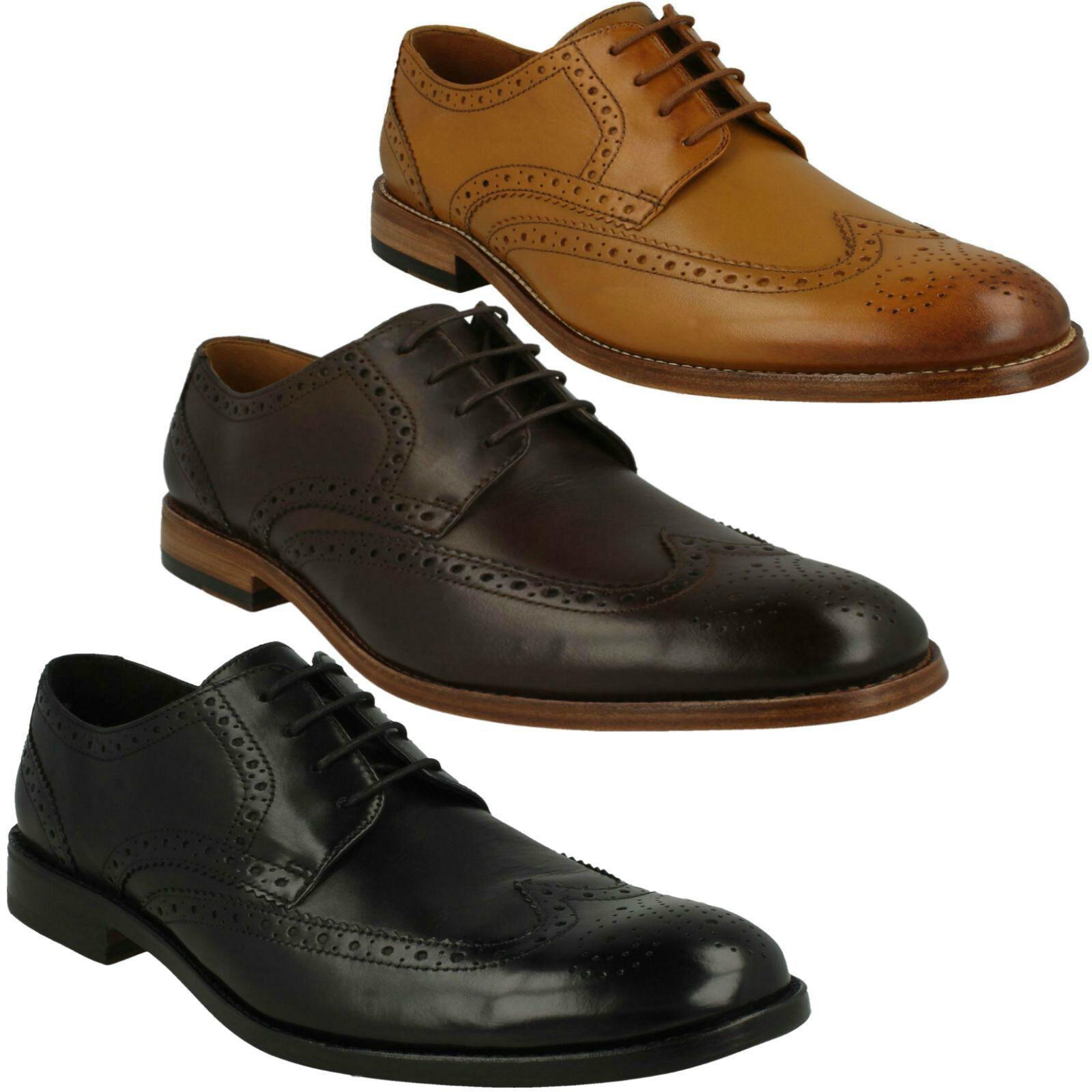 Clarks Hombre James Wing Cordones de Cuero Estilo Formal Zapatos para Oficina