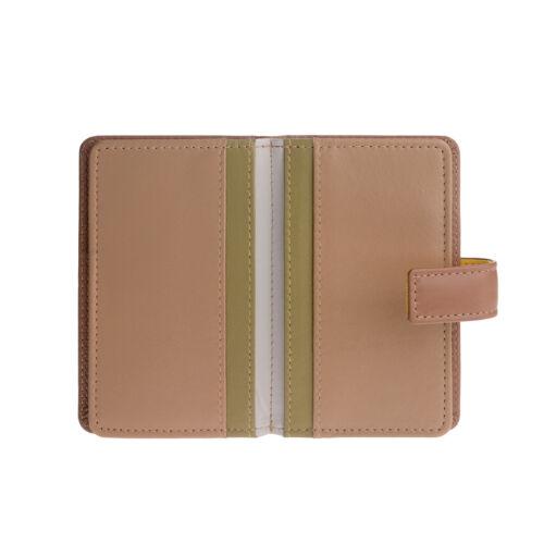 DuDu Porta carte di credito in pelle Safari per 12 tessere e chiusura bottone