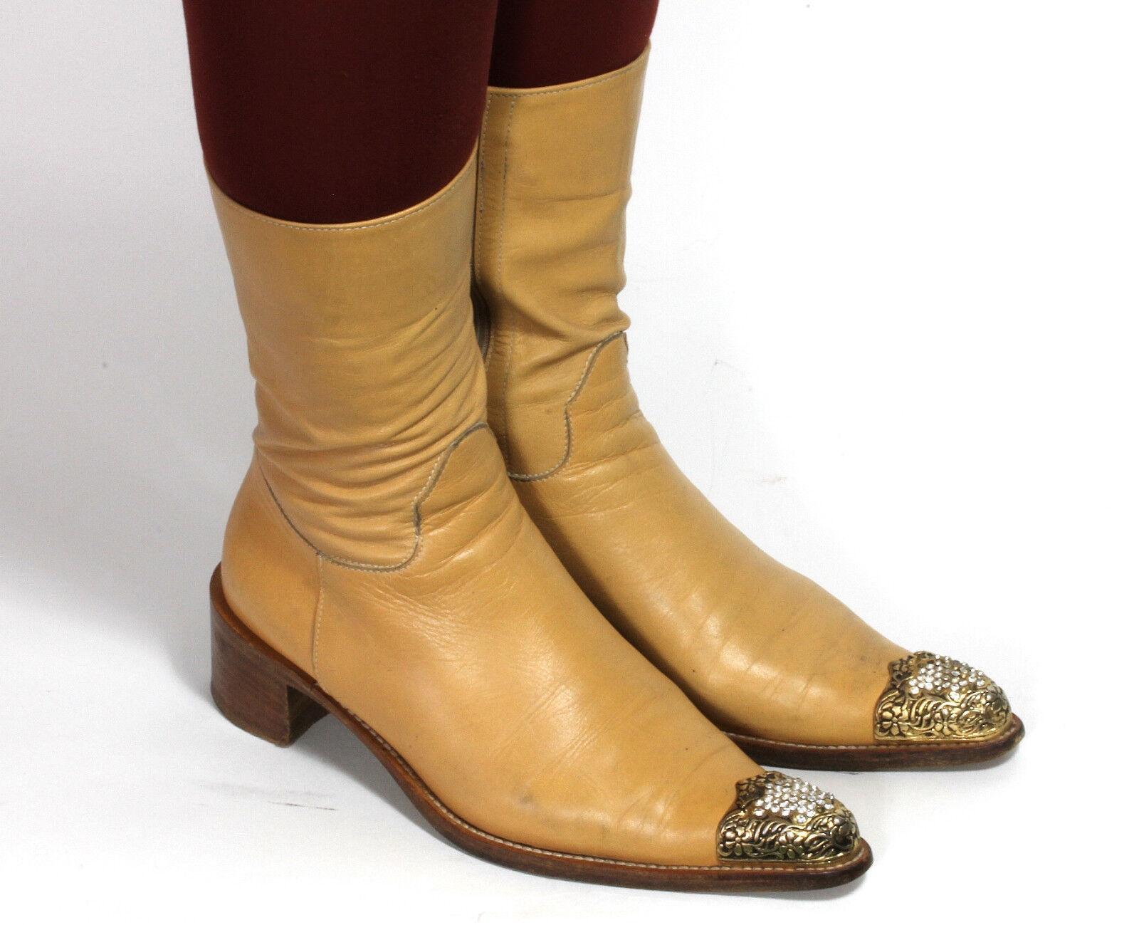 Stivali Western Cowboy Stivali Catalan Style MASSIMO LONARDO Stivali da Donna 37