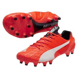 Details about Puma evoSPEED 1.4 FG Lava Blast/ White/ Total Eclipse Cleat  Soccer Shoes Size 11