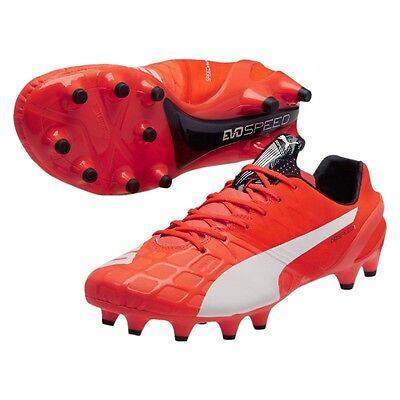 Puma evoSPEED 1.4 FG Lava Blast/ White/ Total Eclipse Cleat Soccer Shoes  Size 11 | eBay