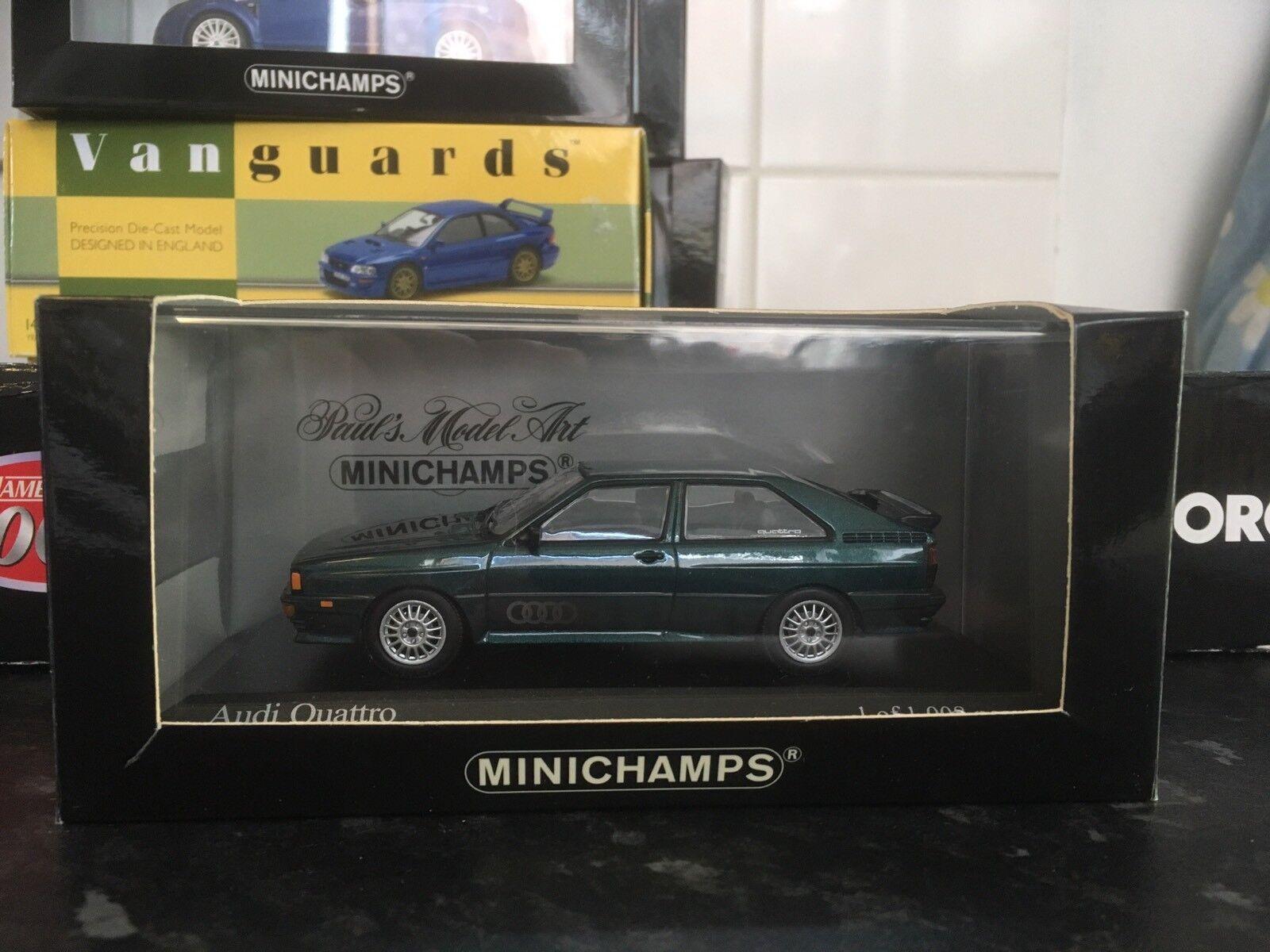 Minichamps Audi Quattro Metallic Grün Lhasa 1 43 MIB Ltd Ed 1981