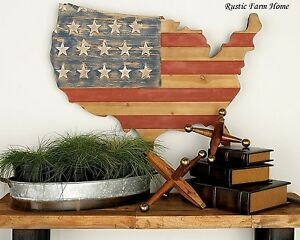Wood usa wall decor rustic patriotic stars stripes Stars and stripes home decor