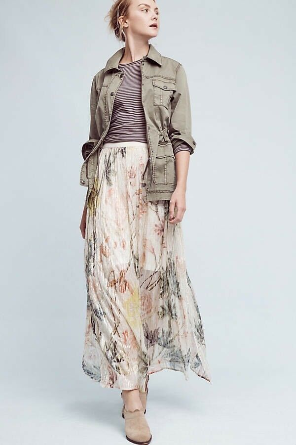 Anthropologie + Blank Daybreak Maxi Floral Skirt Long New Size Small MSRP