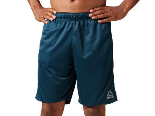 Herren Reebok Workout Knit Short Training Workout Gym Shorts Speedwick Polyester
