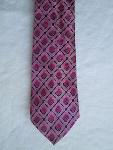 AUTHENTIQUE-cravate-YVES-SAINT-LAURENT-100-soie-TBEG-vintage