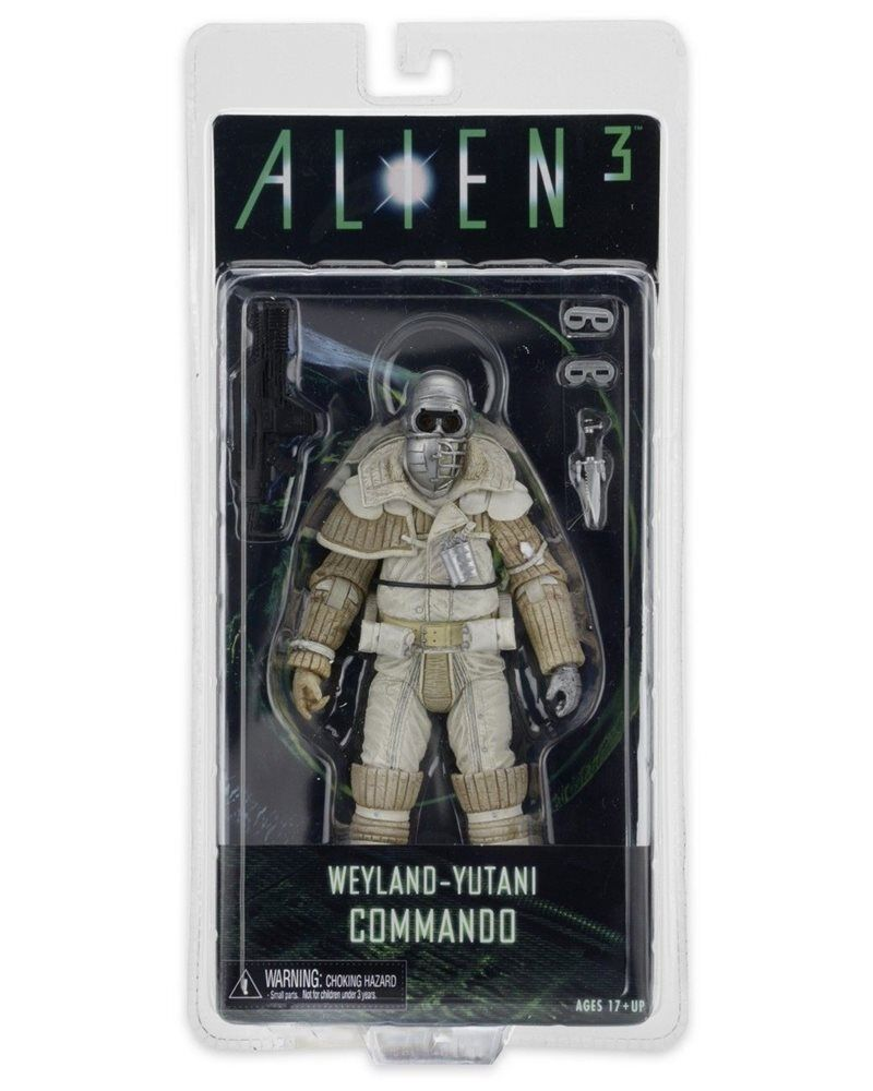 NECA ALIEN 3 FIGURE SERIES 8 WEYLAND YUTANI KOMMANDO NEW IN BLISTER ALIENS