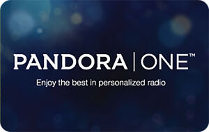 Pandora One Gift Card - $15, $30 or $60 - Email delivery | eBay