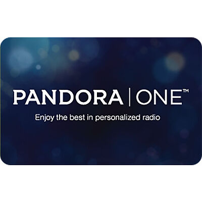 Pandora One Gift Card - $15, $30 or $60 - Email delivery