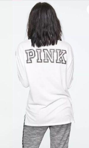 Pink Größe Leggings Victoria's ~ Langärmlig Geheim M T shirt Bling IcwwB85qfF