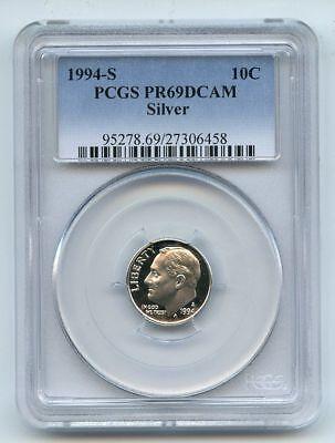 1994 S 10C Silver Roosevelt Dime Proof PCGS PR69 PR69DCAM